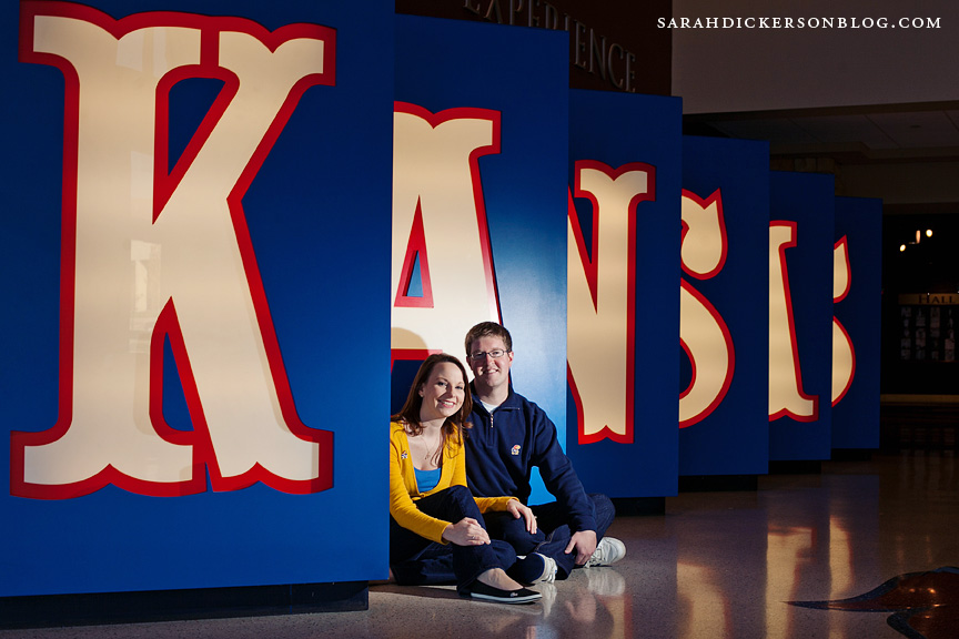 University of Kansas engagement photography