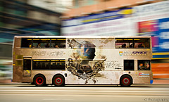 Mobile Art [Explored] (gtsomething) Tags: travel bus hongkong asia publictransit panning doubledecker hkuspace gtsomething