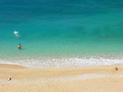 Kaputas Beach, near Kas (dachalan) Tags: sea beach turkey sand turkiye antalya swimmer swimmers mediterraneansea lycia kas kaputas nikoncoolpixp1 dachalan kaputasbeach