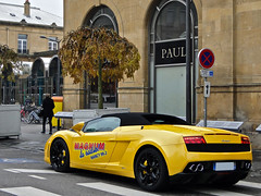 Lamborghini Gallardo LP560-4 Spyder (Alexandre Prvot) Tags: france car sport automobile parking transport voiture collection route nancy turismo lorraine lamborghini coup gallardo granturismo ges lamborghinigallardo dplacement twodoorcar grandestsupercars