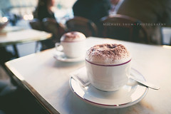 365.179 People Watching (Michael Shum) Tags: food paris france coffee cafe cappuccino palaisgarnier project365 operanationaldeparis zeissdistagont2821ze eurotrip2011