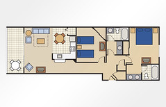 The Fountains 2-Bedroom - 1,034 sq ft
