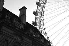 The Eye (tigit55) Tags: uk england blackandwhite london eye europe unitedkingdom traveling theeyeoflondon