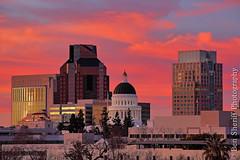 Sacramento Skyline @ Sunset (Ben Sheriff Photography) Tags: california sunset northerncalifornia skyline cityscape sacramento norcal pinksky statecapitol capitolbuilding renaissancetower sacramentoskyline bensheriffphotography