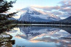 Vermillion Lakes & Mount Rundle, Banff, Alberta, Canada - p1135 (photos by Bob V) Tags: canada mountains reflections rockies tranquility alberta banff mountainlake mountrundle banffnationalpark vermillionlakes banffalberta banffalbertacanada canadianrockiesrockymountains