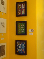 minis in frames on wall