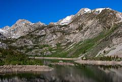 Lake Sabrina in June (Talo66) Tags: california snow mountains nature outdoors landscapes hiking lakes peaks sierranevada scenics easternsierra