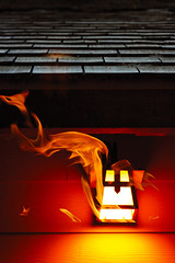 (carolinamadruga) Tags: california wood usa lamp canon fire 50mm madera cabin heat pinecrest cabaa calor lmpara canon450d