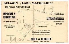 M1657 - Belmont, Lake Macquarie, Saturday October 20th. (Cultural Collections, University of Newcastle) Tags: newcastle belmont australia nsw georgestreet lakemacquarie macquariestreet mainroad landsettlement newcastleaustralia walterstreet herbertstreet propertysales hunterregion maudstreet gemstreet landacquisition subdivisionplans landsettlementhunterregion