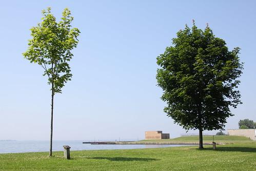 キングストンの湖岸
