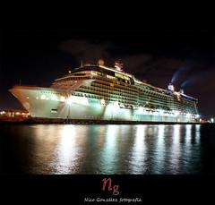 Celebrity Eclipse (Demodragon) Tags: sea night noche mar barco ship sony caribbean caribe trasatlantico dslra200 alfa200