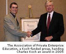 Charles Koch awards himself