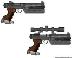 """Bearclaw"" TTMX & TTMX Scoped (.45 ACP) Edited (Ares Leviathan: Finest Hour) Tags: wood one star 1 45 wars phantom grip nerf episode naboo menace blaster s5 pmg acp"