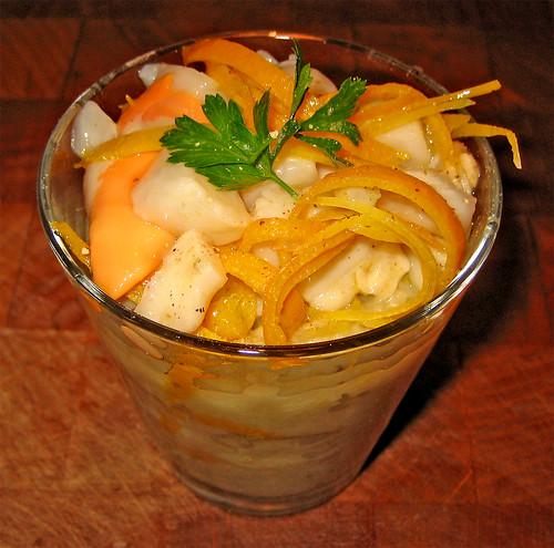 tartare di capesante con finocchio e vinaigrette di agrumi by fugzu