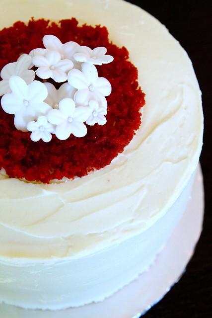 Red Velvet with white blossoms 2b
