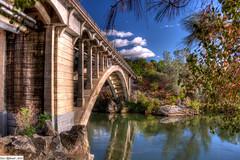 "A bridge to a better land.. (etgeek (Eric)) Tags: bridge sky lake reflection water clouds aperture historic 1919 hdr rainbowbridge americanriver folsomca photomatixpro thousandwords colorphotoaward nikond90 ""nikonflickraward"" n6oim 9682742 platinumpeaceaward"