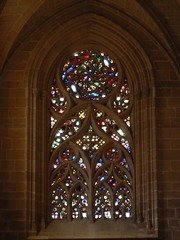 Batalha Window (UNESCO WHS) (uempe (only sporadically here)) Tags: art portugal church window glass architecture digital photo europa europe foto fenster kunst gothic kirche stainedglass unescowo