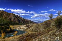 Mountain Katun river