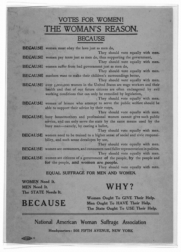 Women's Fight for Suffrage Pamphlet- 1912