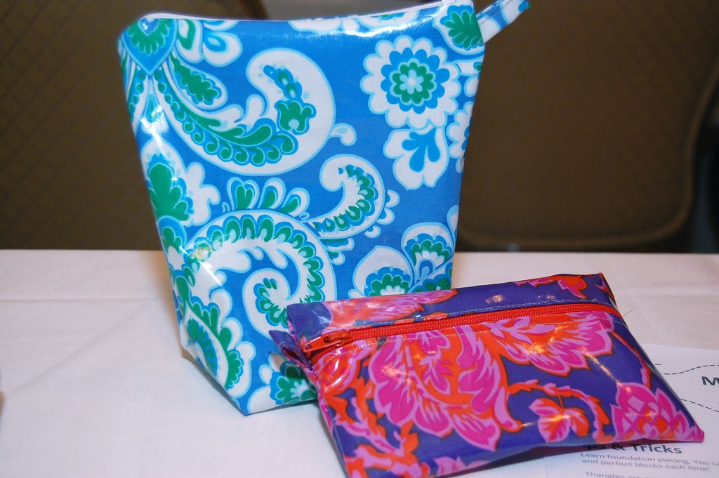 zipper pouches!