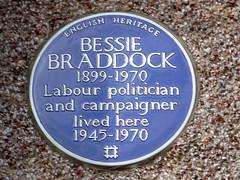 Photo of Bessie Braddock blue plaque