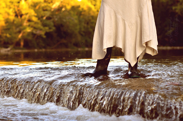 Boots on the stream...