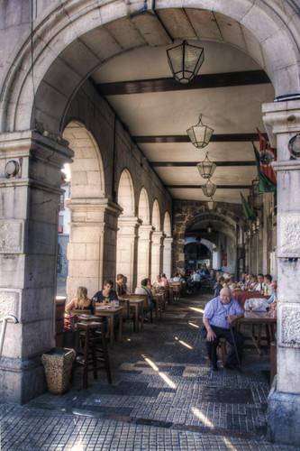 Arcade. Castro-Urdiales, Cantabria. Soportales