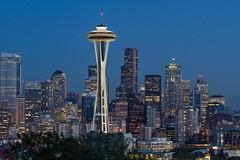 [フリー画像素材] 建築物・町並み, 都市, 塔・タワー, 夜景, 風景 - アメリカ合衆国, シアトル, スペースニードル ID:201110240600