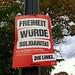 Erfurt, vor dem Parteitag festlich geschmückt.