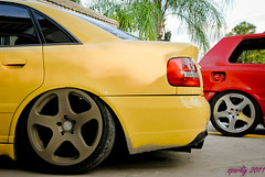 Nue x2 (sparkyvw) Tags: yellow vw golf volkswagen b5 audi s4 nue vr6 imola mk3 worldcars rotiform
