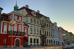 Stare namesti in Hradec Kralove (beyondhue) Tags: city sunset fall architecture buildings hall republic czech stare restored hradec namesti radnice kralove beyondhue