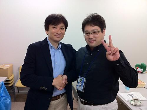 中川社長とツーショット #aicfust