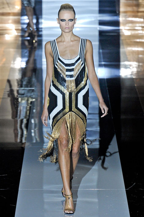 Gucci - Abstract Art, beaded dress, beaded fringe, gucci 2012