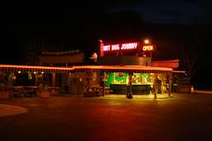 Hot Dog Johnny's (Tim Loesch) Tags: dog hot night hotdog neon open nj johnny johny hotdogjohnnys buttzville route46 hotdogjohnny