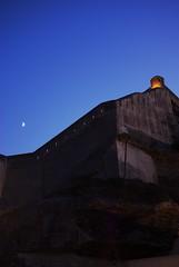 Moonrise over Bonifacio Citadel (brycecarlen) Tags: moon france night europe corse citadel corsica moonrise fortress bonifacio corsedusud