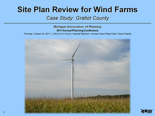 Site Plan Review for Wind Farms – Case Study: Gratiot County