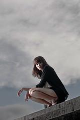 [フリー画像素材] 人物, 女性 - アジア, 女性 - 座る, シンガポール人 ID:201111051400