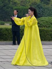 Singers and streetperformers on the National Day (Rita Willaert) Tags: streetperformers singers northkorea nationalday pyongyang kimilsung nationalefeestdag noordkorea 09092011 1epremierdprk