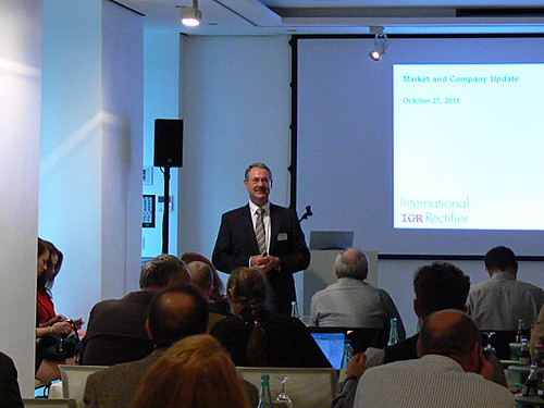 Berthold Duecker presents International Rectifier's latest innovations in power semiconductor technology.