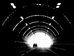 finally the light - ( explored ) (mujepa) Tags: light bw italy monochrome blackwhite highway driving noiretblanc lumire tunnel nb sicily autoroute sicile mygearandme blinkagain musictomyeyeslevel1 rememberthatmomentlevel1 rememberthatmomentlevel2