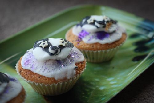 Badger cupcakes