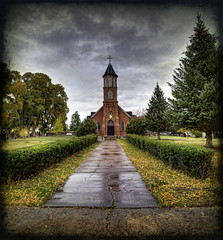 San Luis Church (JoelDeluxe) Tags: sanluis church colorado riograndevalley stitch hdr textureby joeldeluxe abigfave