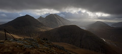 Blaven Panorama from Marsco (Nick Landells) Tags: sky cloud mountain storm mountains skye weather scotland mood moody isleofskye innerhebrides cloudy foreboding hill dramatic scottish hills monroe drama hebrides blaven blabheinn marsco hebridean garbhbheinn clachglas garven sgurrnastri lochnacreitheach ruadhstac