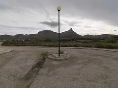 (David Crausby) Tags: urban streets grey daylight spain loneliness streetlights contemporary empty nowhere nobody espana unfinished mallorca mundane dull majorca borderland outofseason newtopography newtopographics coloniadesantpere puntasaestanyol streetswithouthouses