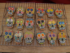 Day of the Dead Cookies (nikkicookiebaker) Tags: