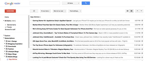 New Google Reader Look