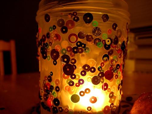 jar jar candle holder craft