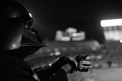 """When I left you I was but the learner. Now I am the master."" - Lord Vader (espressoDOM) Tags: bw blackwhite starwars evil darth vader darthvader villain sith nocolor"