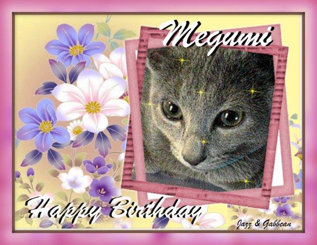 Megumi's Birthday Card