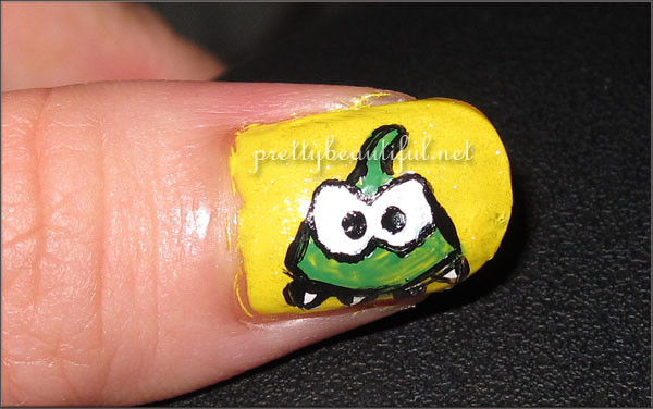 Cut the Rope Nail Art - Omnom